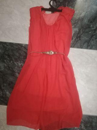 vestido gasa talla M