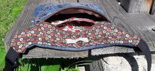 Riñonera bandolera upcycled tribal