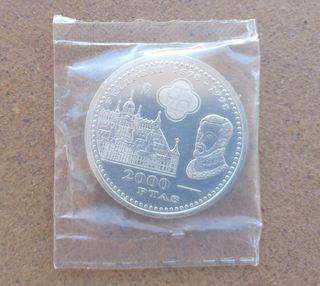 Moneda de plata conmemorativa Felipe II 1598-1998