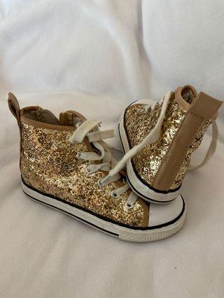 Zapatillas bambas brillantes para niña