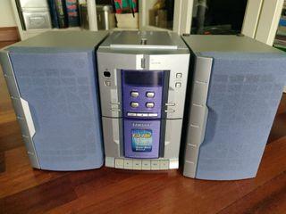 mini cadena de música Samsung reproductor CD