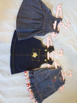 lote Vestidos vaqueros bebe