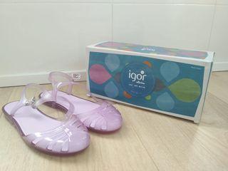 Zapatillas cangrejeras niña talla 34