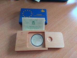 Moneda de plata España 1992 - 5 ECU Madrid .