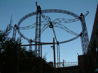 Pergola hierro forjado alt 3,5 mts