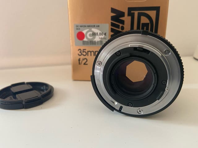 Nikon Nikkor AI-S 35mm 2.0 como nuevo