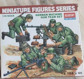 Maqueta Academy German Machines Gun Tema Set.