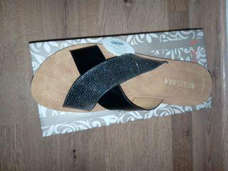 Zapato mujer colores negro y cuero