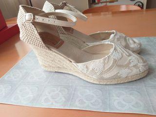 Zapatos tipo alpargata de novia talla39
