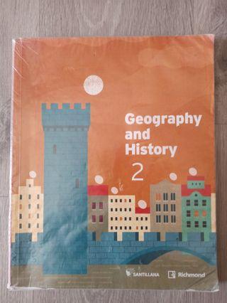 Libros geografía e historia segundo de la ESO.