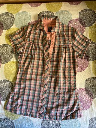 Camisa de manga corta de cuadros