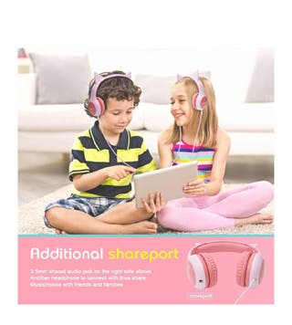 Headphones for kids Over Ear, Wired Headphones Wit