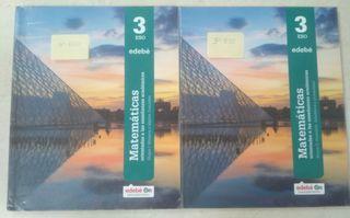 libro de matemáticas de 3 ESO edebe