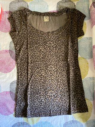 Camiseta leopardo de manga corta
