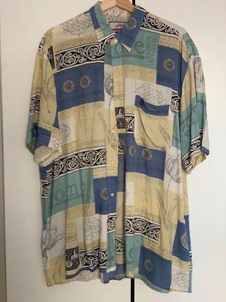 Camisa estampada oversize