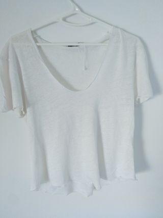 Camiseta lino Zara