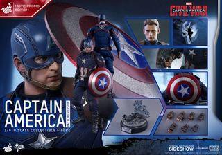 hot toys capitan america battling promo edition