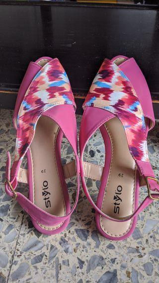 Zapatillas rosas de verano