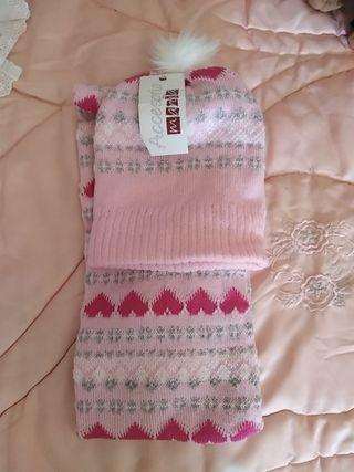 Bufanda, gorro y guantes