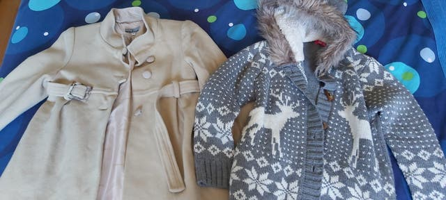 lote abrigo y chaqueta de niña