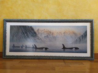 Precioso cuadro hecho con un puzzle de 1.000 pieza