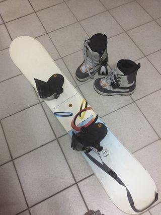 Tabla Snowboard + fijaciones+ botas (automaticos)
