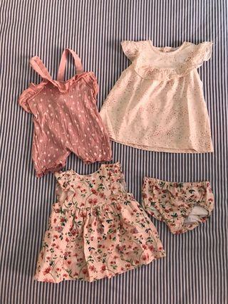 Lote verano bebé niña 0-3 meses / 62cm