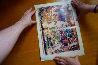 poster arte religioso restauración