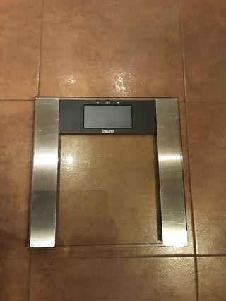 Báscula de baño digital de vidrio