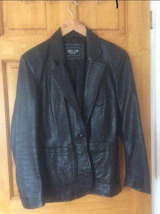 Milan leather coat