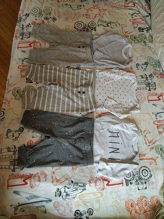 pantalones y camisetas bebé 3 meses (60cm)
