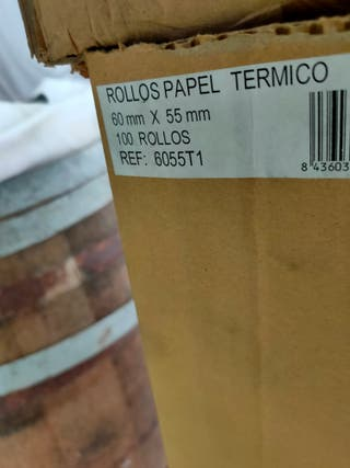 PACK 100 ROLLOS PAPEL TÉRMICO 60 X 15