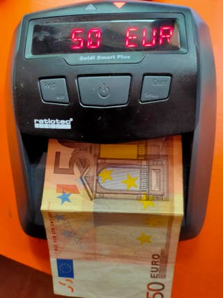 DETECTOR BILLETES FALSOS (EUROS)