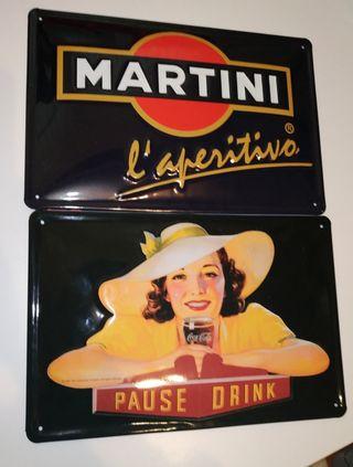 Chapas grandes Coca Cola Martini