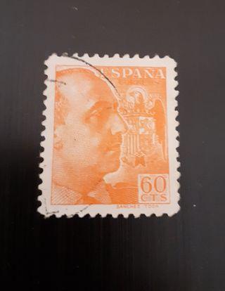 sello Franco 60 céntimos 1939