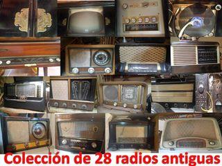 Radios antiguas, colección de 30 radios