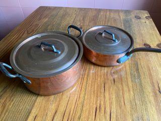 Conjunto cacerolas cobre