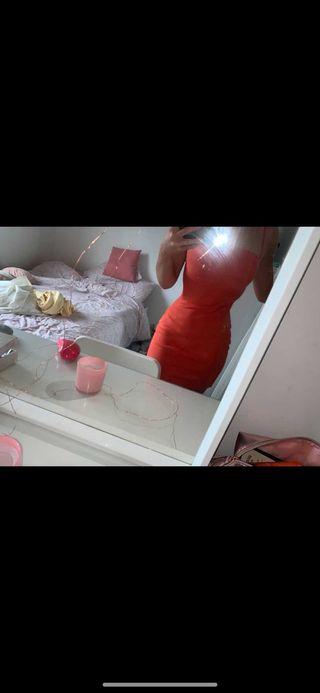 orange plt dress