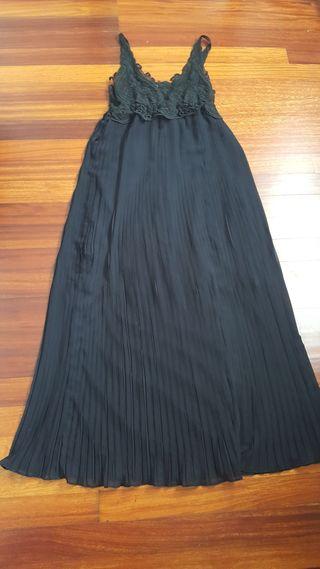 vestido fiesta largo negro