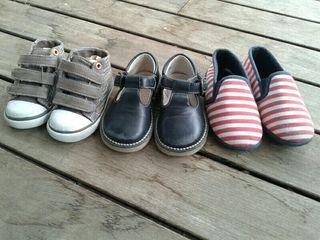 Calzado bebé y niño o niña.