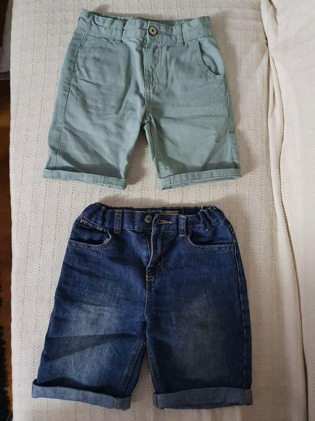 lote de 2 pantalones cortos de verano. talla 7