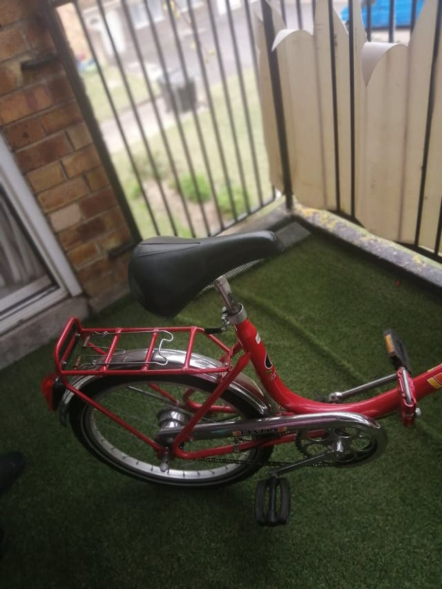 Red bicycle