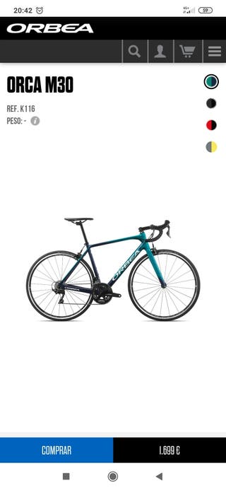 Bicicleta carretera Orbea Orca
