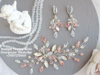 Tiara + Pendientes de novia invitada a boda joya