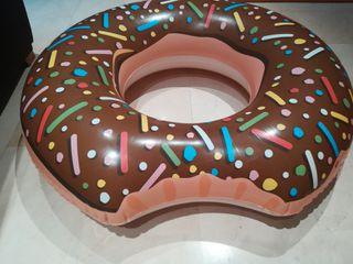 flotador con forma de donut