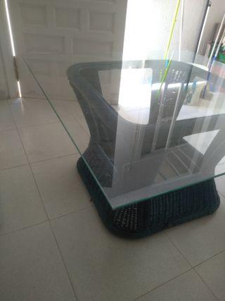 Mesa de cristal para centro