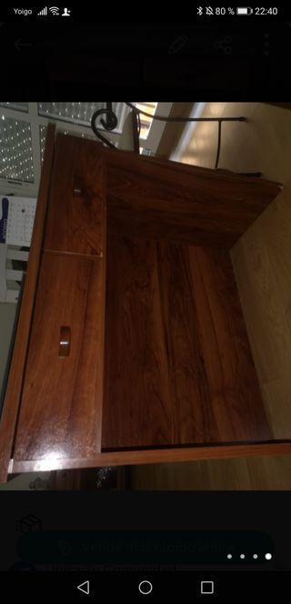 mesa escritorio y estantería dos baldas