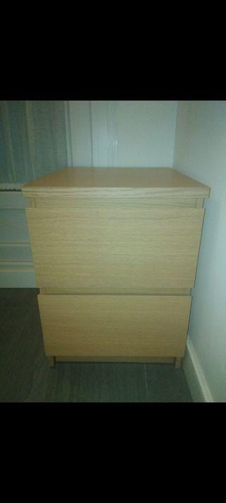 Cajonera/comoda MALM Ikea 40x55 color chapa roble