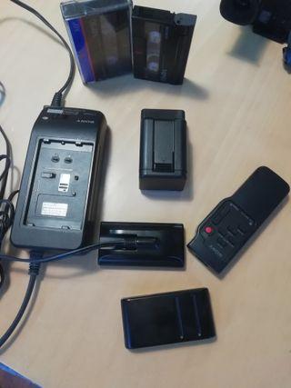videocamara o cámara de video