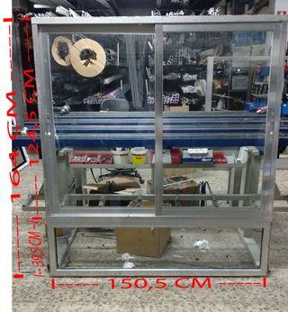 Ventana corredera 150,5 x 164 cm Aluminio